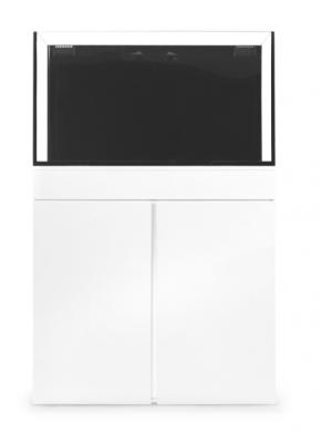 JBJ Rimless Flat Panel AIO 65 Gal. Aquarium and White Stand