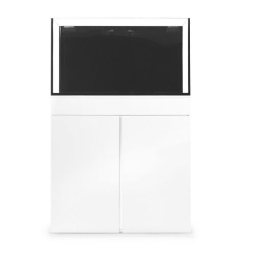 jbj rimless flat panel aio 65 gal aquarium and white stand