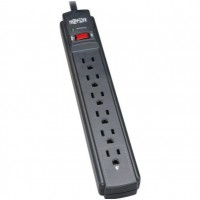 Tripp Lite Surge Protector Power Strip 120V 6 Outlet 6' Cord 790 Joule Black
