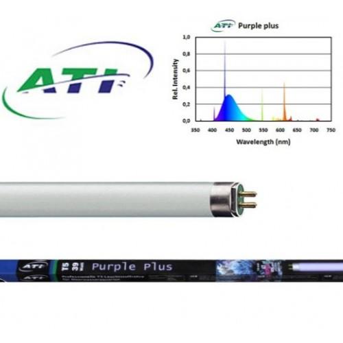 Ati Sunpower Dimmable 48 6x54w T5 High Output Light: ATI 24 Inch 24W Purple Plus T5HO Fluorescent Bulb