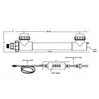 "Aqua UV Classic - 40 Watt Clarifier/Sterilizer with Wiper - Black - 2""  A00066"