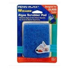 "AquaLife WIZARD Algae Scrubber Pad Blue 3"" x 4"" Glass Tanks"
