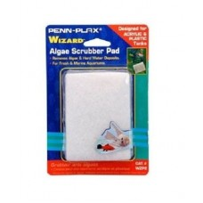 "AquaLife WIZARD Algae Scrubber Pad White 3"" x 4"" Acrylic Tanks"
