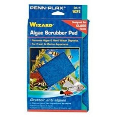 "AquaLife WIZARD Algae Scrubber Pad Blue 9"" x 6"" Glass Tanks"