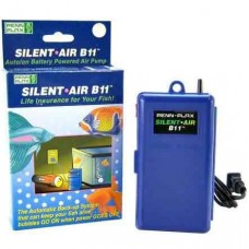 Penn Plax Silent Air B11 Auto On Battery Powered Air Pump
